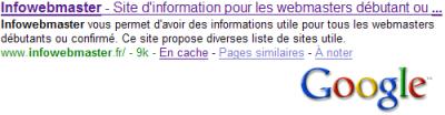 exemple de r�sultat sur google