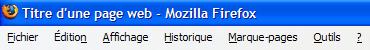 Titre d'une page web sur Firefox