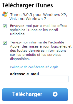 Exemple call-to-action Apple.com