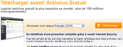 Exemple call-to-action Avast.com