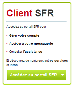 Exemple call-to-action Sfr.fr