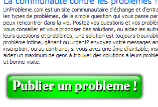 Exemple call-to-action Unprobleme.com