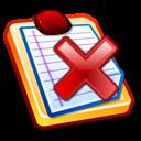 liste avec un symbole de refus