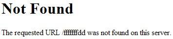 Capture d'écran d'un message d'erreur 404 par défaut