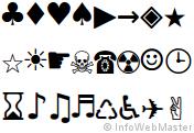 Exemple de caractères spéciaux