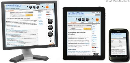 Exemple d'un site avec un responsive web design